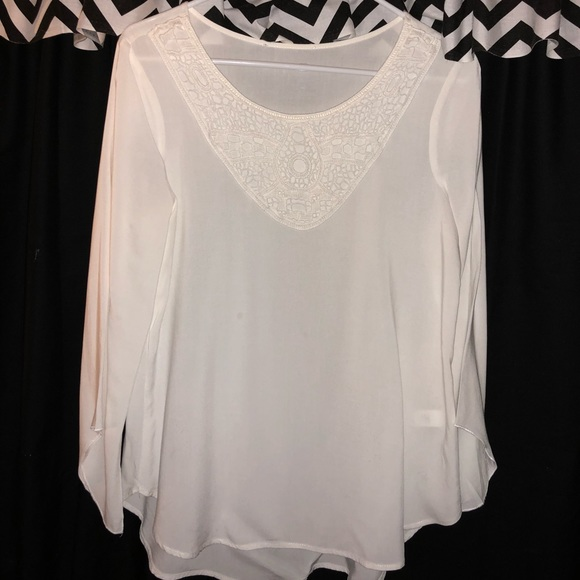 3f05668dc3 Tops | White Casual Flow Top | Poshmark